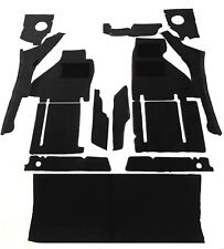 Black velours carpet kit for Ferrari  TestaRossa incl. trunk carpet