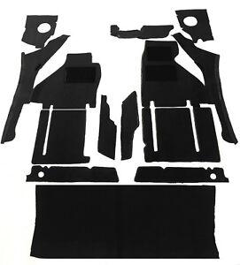 Black velours carpet kit for Ferrari  TestaRossa incl. trunk carpet