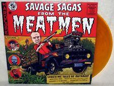 MEATMEN Savage Sagas LP PUNK ROCK Hardcore TESCO VEE Orange Vinyl HATE POLICE XX