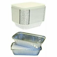 More details for takeaway foil food containers with lids foil trays with lids sizes no1, no2, 6a