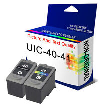 2 Remanufactured Ink Cartridge For Canon PG40 CL41 Pixma MP140 MP210 MP220 MP150