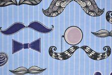Blue Barbershop Flannelette Fabric 108cm Wide (per metre)