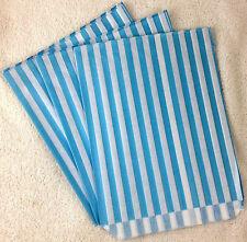 """100 x 7 """"X 9"""" AZZURRO Candy Stripe Carta Sacchetti Caramelle Retrò"""