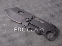 Outdoor Mini Folding Knife Frame Lock Clip Porket keychain Card Knife S.Steel