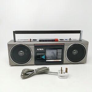 Vintage Retro Aiwa CS-210G Stereo 210 Boombox Ghetto Blaster With Aux Port