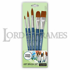 5 Set HomeHobby 3L High Quality Synthetic Art Paint Brushes Watercolor Acrylic
