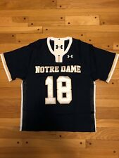 NWT Notre Dame Fighting Irish Under Armour College Lacrosse Jersey LRG