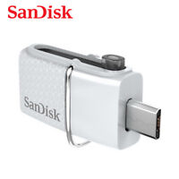 SanDisk 32GB Weiß OTG Ultra Dual microUSB Stick USB 3.0 Pen Drive SDDD2-032G