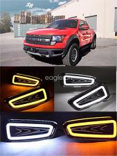 2x LED DRL Daytime Running Light Turn Signal Lamp for Ford Raptor F150 2010-2014