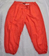 Lane Bryant Women's Coral Orange Linen Blend Jogger Pants Plus Sz Elastic 14 16