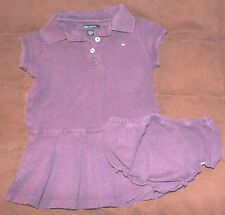 12 month purple polo dress with matching diaper cover by Tommy Hilfiger*