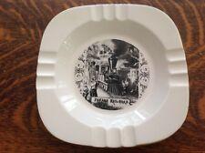 Panama Railroad Vintage Ceramic Ashtray, Great Graphics
