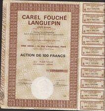 Ets CAREL FOUCHE & cie, 1968 (PETITE-SYNTHE 59) (P)
