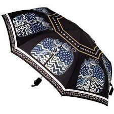 LAUREL BURCH Compact Umbrella BLACK POLKA DOT CATS ~ Auto Open & Close ~ New