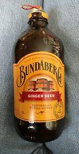 Bundaberg Ginger Beer empty glass bottle Australian made