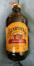 Bundaberg Ginger Beer empty glass bottle Australian made; Kangaroo; Brewery