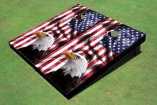 Custom American Flag With Eagle Cornhole Board set