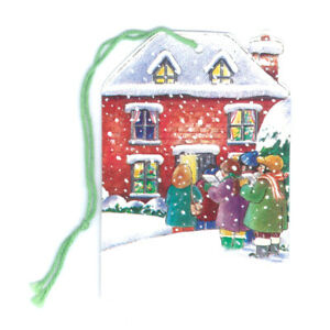 Pack of 5 Courtier Christmas Carol Singers Gift Tags Ref 637se21