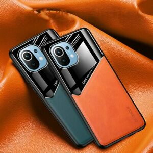 For Xiaomi Mi 11 Case Hybrid Magnetic Mirror Leather Acrylic Silicone Case Cover