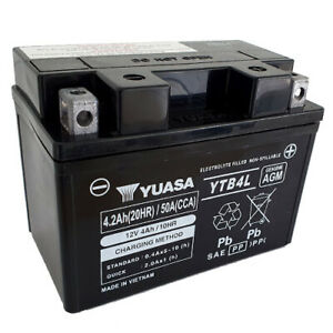 Batterie Aprilia RS 50 Extrema/Replica MM020 Bj.97 YUASA YB4L-B AGM geschlossen