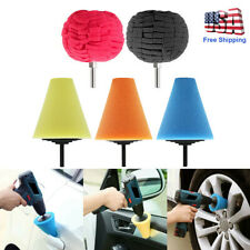 Burnishing Foam Sponge Polishing Cone Ball Buffing Pad Car Wheel Hub Cleaner Set