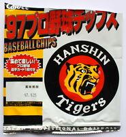 Calbee Japan Baseball Card Hanshin Tigers 1997 unopened on original chips bag