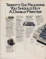 "ITHistory AD (1984) DIABLO PRINTERS ""TWENTY SIX REASONS YOU SHOULD BUY (FORTUNE"