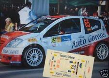 DECAL CALCA 1/43 CITROEN C2 S1600 D. SORDO RALLY CATALUNYA 2004