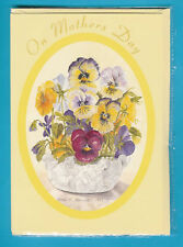 6 A5 SIZE TOP QUALITY MOTHERS DAY CARDS - pansy design