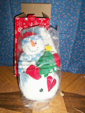 NIB Avon  Glowing Christmas Plushees Snowman  About 10 Inch High