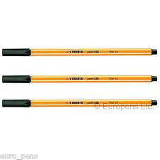 (paquete De 3) Stabilo Point 88 Fineliner de Dibujo para 0,4 Mm Fine (88/46) Negro