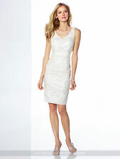 NEW Mon Cheri 117822 IVORY WHITE Beaded COCKTAIL DRESS Size 4 Social Occasion