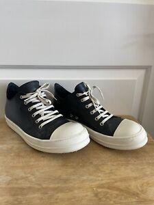 Rick Owens Men's Black Mainline Ramones Low Sneaker Shoes Size US 10.5 EU43