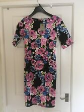TU Floral Bodycon Dress Size 10 With Tags
