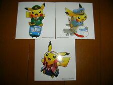 """Pokémon Store Campaign Costume Pikachu Sticker Seal A Set"" Pokemon Center Japan"