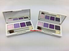 Lot of 2: Clinique Shadow Quad: Graphite /Purple Pumps/ Lavender/ Angel eyes