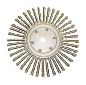 """12"""" Joint Wheel Brush Knot Wire Crack Cleaning Stainless Steel - PFERD 82078"""