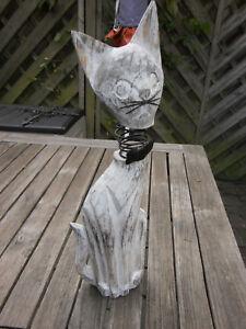 Hüner Katze u.v.m. Nilpferd Decowägelchen Garten Deco mit Eulen
