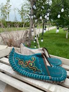 Kazakhstan mens slippers handmade from eco friendly wool felted size 45-46 eur