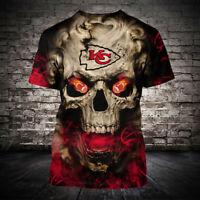 Kansas City Chiefs Football Primary Short Sleeve T-Shirt fan's gift Tee Top
