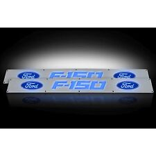 RECON 264321FD 2009-2014 Ford F150 Aluminum-Blue Emblems Illuminated door sill