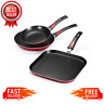 Non-Stick Frying Pan and Griddle 3 Piece Set, Essential Everyday Dishwasher Safe