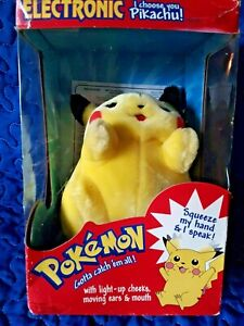 "Pokemon Electronic Talking ""I Choose You"" Light up Cheeks Pikachu"