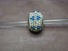 ** Genuine Lovelinks * BLUE REPTILE CRYSTAL BALL Charm RRP £45 **