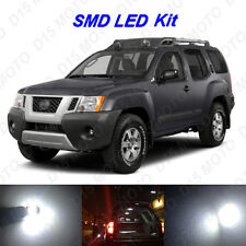 8 x White LED Interior Bulbs + License Plate Lights for 2005-2014 Nissan Xterra