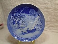 Royal Copenhagen Christmas Plate Jule After 1970 B&G Pheasants in the Snow at