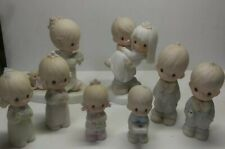 """Vintage Precious Moments """"Bless you two"""" Bride & Groom w/ Wedding party"""