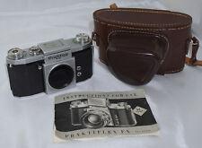 Praktica FX SLR Camera Body w/ Case and Instructions