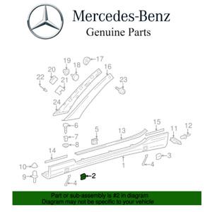 For Mercedes-Benz C215 R230 Front Driver Left Rocker Molding Cover Genuine
