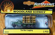 "Woodland Scenics N #5343 Tim Burr Logging (""AutoScenes"") 1:160 Scale"